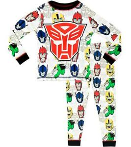Transformers Boy's Pajamas Set 9-10 Years Long Sleeve With Pants NEW
