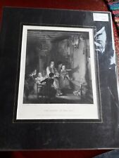 ANTIQUE PRINT  : THE RABBIT ON THE WALL. ART JOURNAL. CA 1860.