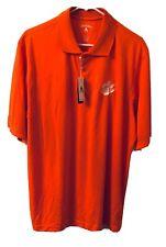 NWT Clemson Tigers Polo Golf Shirt NCAA Orange Antigua Mens Size Large