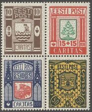 Estonia 1938 Mi 131-4 from s/sheet MLH OG