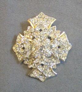 KJL Maltese Cross Pin Pendant Vintage