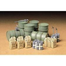 Tamiya 35186 1/35 German Fuel Drum Set Plastic Model Kit Brand New