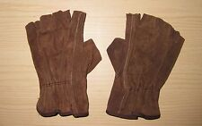 Brown Leather fingerless gloves for a Link costume or other Cosplay
