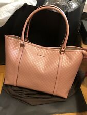 Auth new GUCCI micro GUCCISSIMA Pink Leather Tote Bag NWT 449647