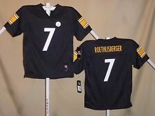 Ben Roethlisberger PITTSBURGH STEELERS  Reebok JERSEY  Youth Large  NWT  blk  ns