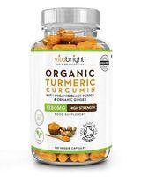 Organic Turmeric Curcumin 1380mg with Organic Black Pepper  Organic Ginger  Hi