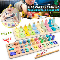 80pcs Kid Montessori Math Toy Learning Counting Board Digital Shape Pairing Gift