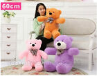 New GIANT 60CM BIG CUTE Brown PLUSH TEDDY BEAR HUGE SOFT Toys doll part toy gift
