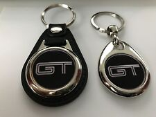 FORD MUSTANG GT KEYCHAIN 2 PACK black