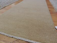 3x10 Modern Savannah Runner Oriental Area Rug neutral beige  wool hand-knotted
