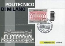 1537 CODICE A BARRE CARTOLINA FDC Politecnico di Milano