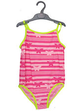 GIRLS MOTHERCARE PINK BUTTERFLY SWIMMING COSTUME AGE 2-9 £4.99 FREE P&P