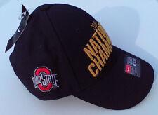 black NIKE OHIO STATE BUCKEYES FOOTBALL 2014 NCAA NATIONAL CHAMPIONS Hat NWT $32