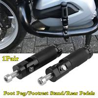 2x Black CNC Aluminum Motorcycle Folding Foot Peg Footrest Stand Rear Pedals Kit