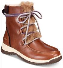 NEW JAMBU Denali Lace-Up/Zip Waterproof Antique Brown Leather/Faux-Fur Boot 8.5