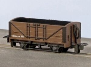 Peco GR0201U, 009 scale, 4 ton Open Wagon in brown - unlettered