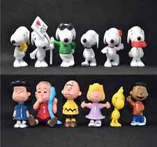 12PCS PEANUTS SNOOPY ACTION FIGURES SET KID FIGURINES DOLL TOY CAKE TOPPER DECOR