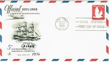 First Day Issue - 5th Philatelic Expo - New York - 1956 Embossed 6 Cent Airmail