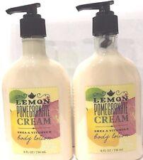 2 Bath & Body Works LEMON POMEGRANATE CREAM Body Lotion Cream Shea & Vitamin E