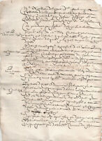 1637 large manuscript document with Oncial Caps very nice ready to frame
