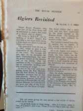 H1a Ephemera 1950s Royal Pioneer Article Algiers Revisited J T Miller
