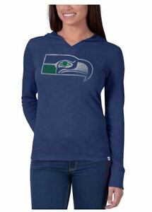 Seattle Seahawks Women's Primetime Throwback Hoody Long Sleeve Shirt - Blue