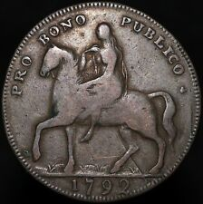 More details for 1792   coventry lady godiva half-penny token   tokens   km coins