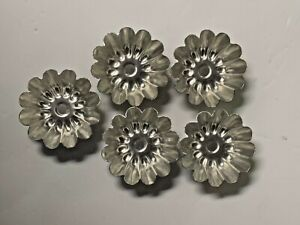 """15 Vintage Scalloped Metal Molds Sweden 1.75""""  Dessert  Tart"""