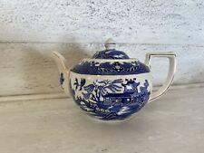 Burleigh Ware / Burgess & Leigh - WILLOW BLUE - Teapot - circa 1950