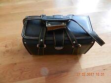 Vintage Black Camera Leather Bag Made in Japan (holds 2 cameras)