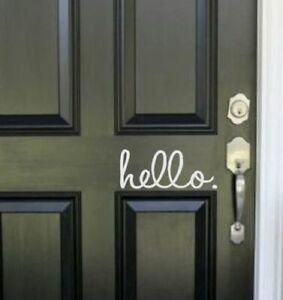 """Hello"" Front Door Vinyl - Love Island Style - House Renovation / Improvement"