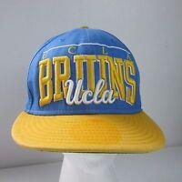 New Era UCLA Bruins Big Script Snapback Hat NCAA Baby Blue Yellow Ball Cap