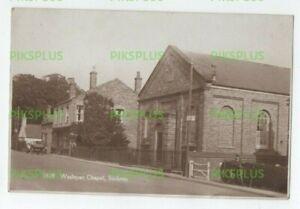 OLD POSTCARD WESLEYAN CHAPEL STICKNEY NEAR BOSTON LINCS REAL PHOTO VINTAGE 1920S