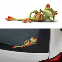 3D Funny Car Stickers Lying Frog Wall Truck Window Paper Sticker Vinyl Decal