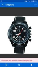 Men's Military Analog Casual Watches full black.