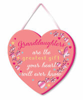 Granddaughter Greatest Gift Hanging Plaque With Ribbon More Than Words Gift