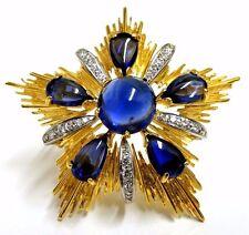 18kt 40ct Royal Medallion Brooch Pin Pendant Pearl Enhancer Ascot Knot