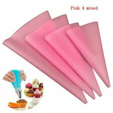 4pcs Silicone Reusable Icing Piping Cream Pastry Bag Cake DIY Decorating Tools
