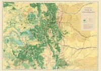 Topo Map - Colorado Economic - USGS 1881 - 23.00 x 32.68