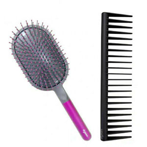 Genuine Dyson Hair Care Detangling Comb Hair Dryer Wide Tooth Air Comb Set (2pc)