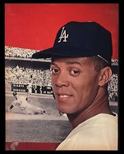 "VINTAGE 1966 ""MAURY WILLS"" LOS ANGELES DODGERS BASEBALL MAGAZINE PHOTO"
