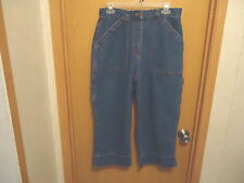 "Womens Bill Blass Carpenter Style Of Capri Jeans Size 8 "" EUC """