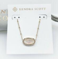 KENDRA SCOTT Elisa Gold Satellite Necklace White Kyocera Opal Illusion Pendant