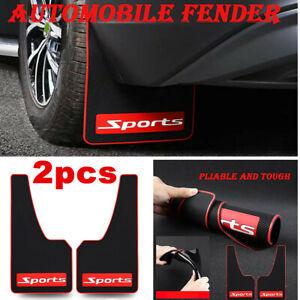 2x Fit Car Truck SUV Mud Flaps Mud Guards Splash Flares 2 Piece Rear w/Screws