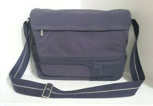 "TUMI SANDO (6172NVY) Navy Computer Messenger Laptop Bag 16""x12""x 5"" Nylon"