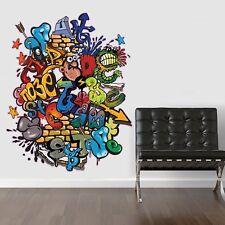 GRAFFITI  WALL CHILDREN'S KIDS TEENS BEDROOM WALL STICKER VINYL TRANSFER MURAL