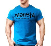 New Men's Monsta Clothing Fitness Gym T-shirt - Sig 31 - Black