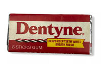 Vintage Dentyne Gum Cinnamon Sealed Packs 8 Sticks In Foil Vintage Gum