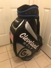 Brand New Cleveland Staff Golf Bag White Black Silver Blue Usa Flag Nice!