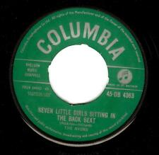 THE AVONS Seven Little Girls Sitting In The Back Seat 7 Inch Columbia 1959